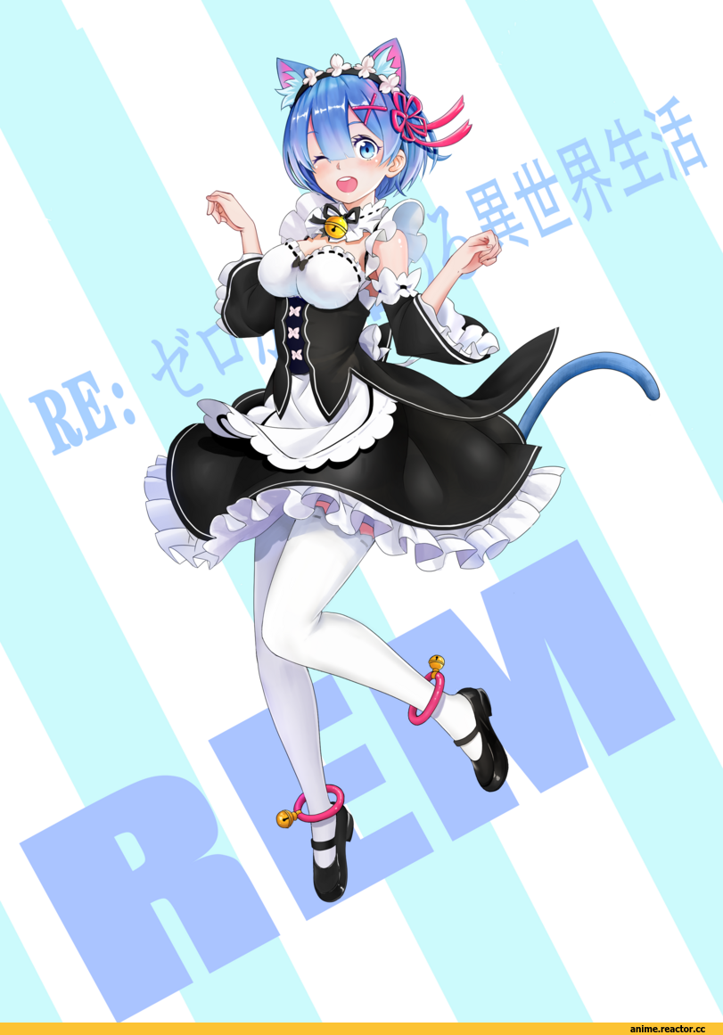 Re Zero Kara Hajimeru Isekai Seikatsu, Rem (re zero), nekomimi, Animal Ears, fury (leo), Anime