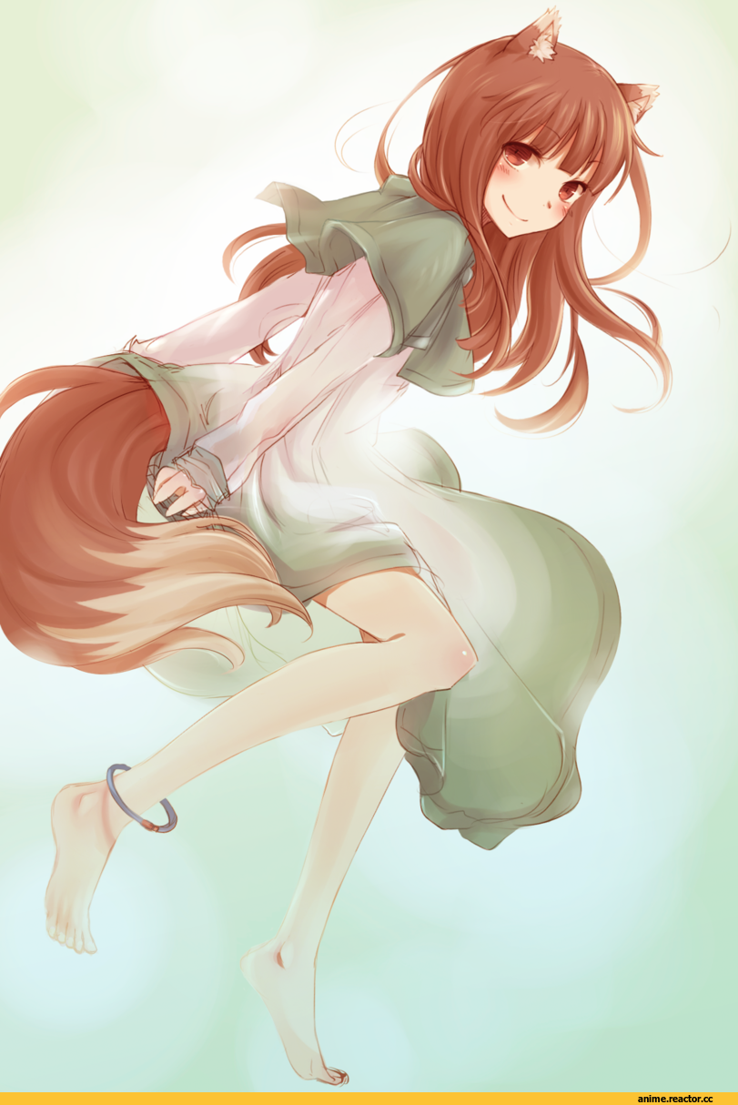 Spice and Wolf, Inumimi, Animal Ears, Holo, art, красивые картинки, Anime