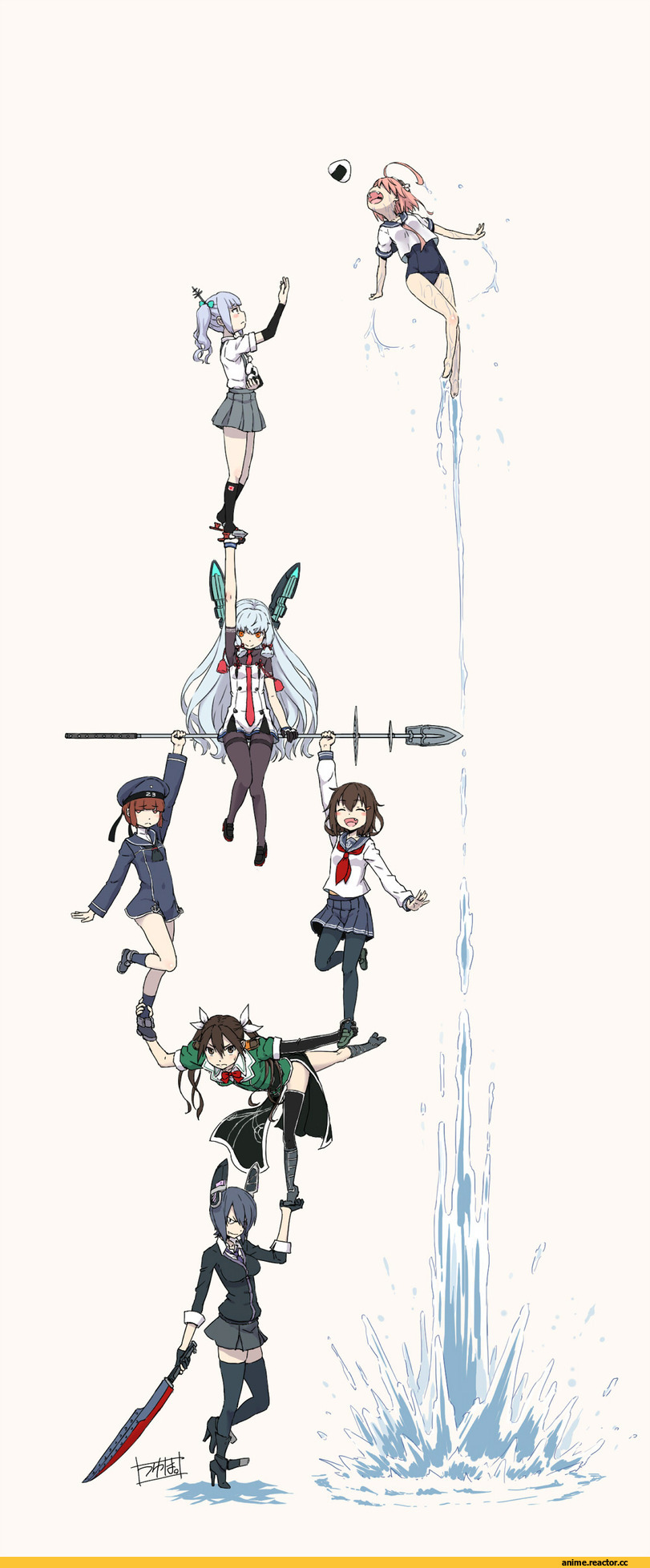i-58 (kantai collection), Kantai Collection, Ikazuchi, Kasumi (Kantai Collection), Murakumo, Tone (Kantai Collection), Z3 Max Schultz (Kantai Collection), Tenryuu, minazuki tsuyuha, Anime