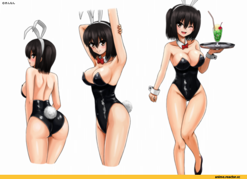 kinnan, Bunnysuit, Usagimimi, Animal Ears, Kantai Collection, Sendai (Kantai Collection), Anime