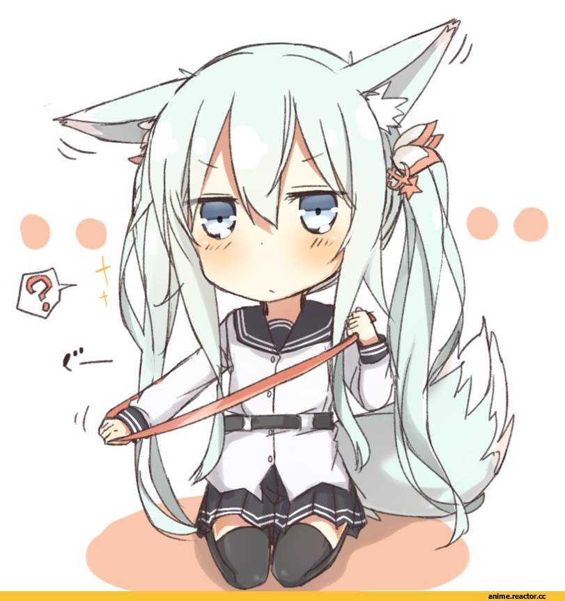 nonono (basasi21), Verniy, Kantai Collection, Inumimi, Animal Ears, chibi, Anime